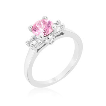 Mini Pink Ice Triplet Ring