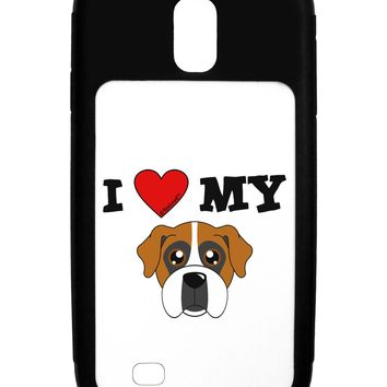 I Heart My - Cute Boxer Dog Galaxy S4 Case  by TooLoud