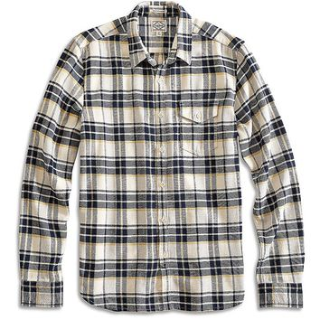 Lucky Brand Sunset 1 Pocket Shirt Mens - Navy/Gray/Gold