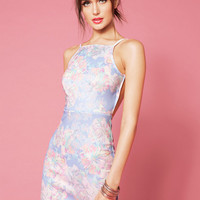 Oh My Love Sarah Loves Floral High Neck Dress $75