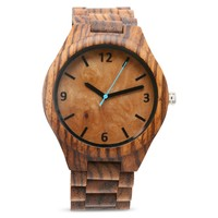 Wooden Watch | The Burl Zebrawood