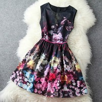 A 090412 High-end retro sleeveless vest skirt