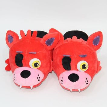 At  Slippers Freddy Foxy Plush Indoor Slippers For Adults Women Men Winter Home Slippers SA1657