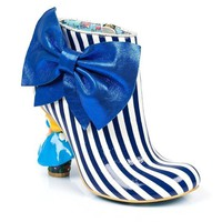 ONETOW Irregular Choice Alice in Wonderland Collection: Who in the World Am I? Blue/White Heel Boots