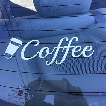 Coffee with cup Decal for Car/Laptop/Picture frame/notebook/phone Chistmas gift for mom, birthday gifts for mom, birthday gifts for sister
