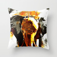 INDI ELEPHANT Throw Pillow by Maioriz Home