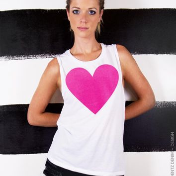 Valentine's Day Heart Muscle Tank - Muscle Tee