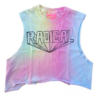Rainbow Radical Crop Top by LUNCCHB0XX on Etsy