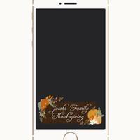 Thanksgiving Snapchat Geofilter, Friendsgiving Filter, Geofilter, Fall Geofilter, Autumn geofilter, Fall Shower, November, Pumpkins