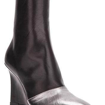 Ann Demeulemeester Two-Tone Wedge Boots