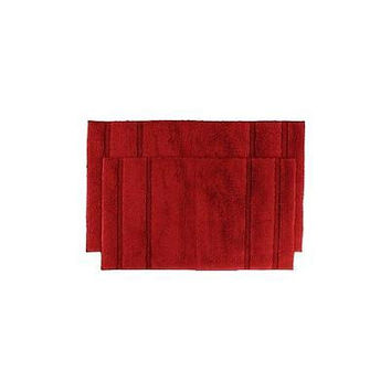 Unbranded Majesty Cotton Washable Rug  Red 17In X 24In