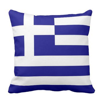 Greek Flag on American MoJo Pillow