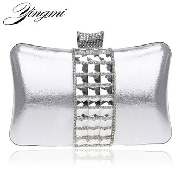 YINGMI Luxurious Acrylic Women Evening Bags Chain Shoulder Small Handbags Black Silver Gold Day Clutch Evening Bag For Wedding