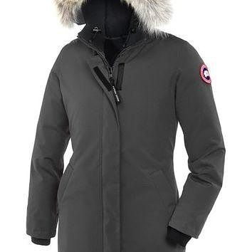 Canada Goose 'Victoria' Slim Fit Down Parka with Genuine Coyote Fur Trim | Nordstrom