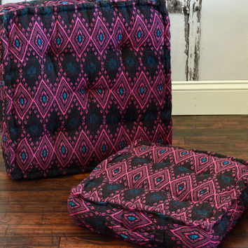 Yoga Meditation Bohemian Purple Pink Pouf Floor Cushion