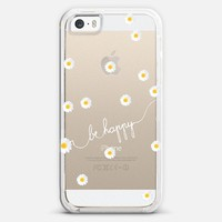 *** HAPPY DAISY ***  CRYSTAL CLEAR transparent & FREE SHIPPING iPhone 5s case by Monika Strigel | Casetify
