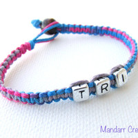 Triathlon Bracelet, Tutti Frutti Hemp Jewelry, Tri Race Day Gift, Swim Bike Run