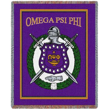 Omega Psi Phi Throw Blanket (Purple)