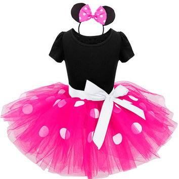 Flower girl Infant Minnie Mouse Dress Parry Costumes Girls Princess Dresses 1 Year Birthday Kids tutu Dress Baby Girl Clothes