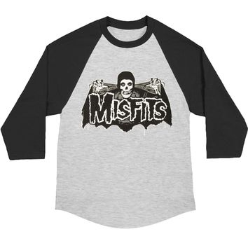 Misfits Men's  Batfiend Baseball Jersey Baseball Jersey Black/Heather