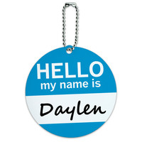 Daylen Hello My Name Is Round ID Card Luggage Tag