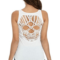 Skull Crochet Tank | Shop Tops at Wet Seal