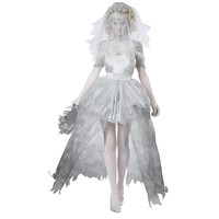 Gray sexy vampire bride costume cosplay zombie costumes Halloween costume for women scary funny uniforms