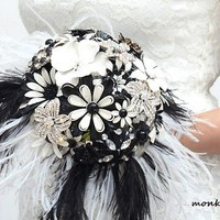 SPECIAL PRICE Brooch bridal bouquet by hairbowswonderworld