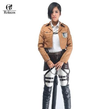 Cool Attack on Titan Japanese Anime no   Belts Jacket Cloak Suit Cosplay Costume AT_90_11