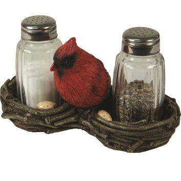 Rivers Edge Cardinal Salt and Pepper Shakers