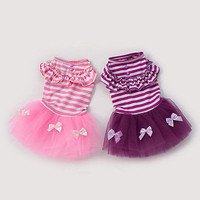 Cute Puppy Pet Dog Tutu Dress Lace Skirt Cat Princess Dress Small Dog Clothing