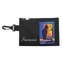 Insomnia Black Cat and Owl at Night Accessories Bags