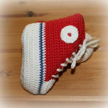 organic baby crochet converse style boots shoes high top booties cotton ecofriendly fa