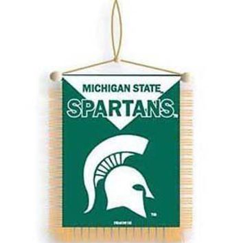 Michigan State Spartans 2-sided Mini Banner / Mirror Dangler Football University