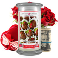 Chocolate Covered Strawberries | Valentine's Day Cash Money Candle