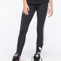 Adidas Originals 3 Stripes Womens Leggings Black  In Sizes