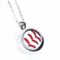Baseball Necklace - Sterling Silver Baseball Pendant - Made from a Real Baseball