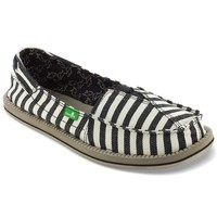 Sanuk Castaway Shoe - Women's 10 - Black / Stripes