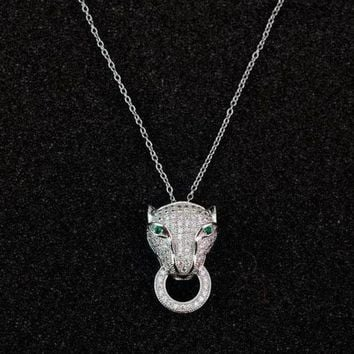 CREYUP0 Cartier Woman Fashion Animal Plated Necklace Jewelry-1