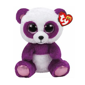 "Ty Beanie Boos Stuffed & Plush Animals Purple Panda Toy Doll Name Boom Boom Toy Doll With Tag 6"" 15cm"