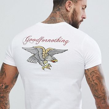 Good For Nothing T-Shirt With Eagle Print at asos.com