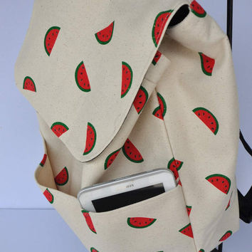 New ! New Zealand quality canvas watermelon (with free watermelon  storage pouch)  - with additional pockets on the outer front