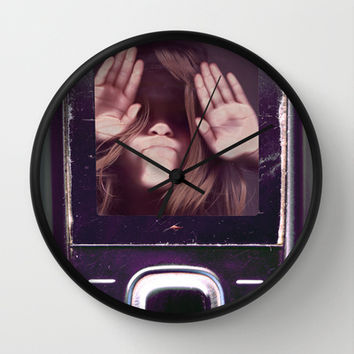 Help! get me out of here..........V3 Wall Clock by Bruce Stanfield