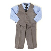 4pc Plaid Suit 12 24m 343178229 | Matching Sets | Baby Boy Clothes | Clothing | Burlington Coat Factory