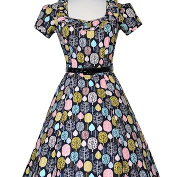 Ebury  Skater Pin Up Dress in Fall For You