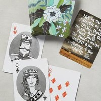 Floral Playing Cards by Anthropologie Assorted One Size Gifts