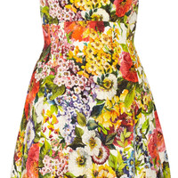 Dolce & Gabbana - Floral-brocade mini dress