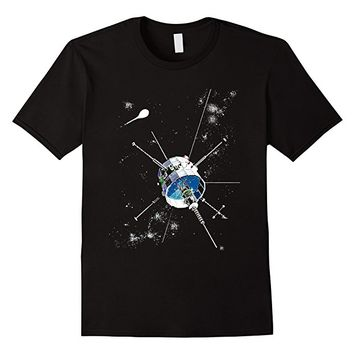 Space Satellite Exploration, Cosmos and Universe T Shirt