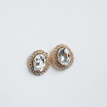 Katia Crystal Oval Earrings