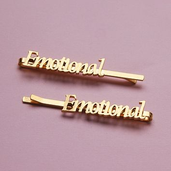 Emotional Nameplate Bobby Pins